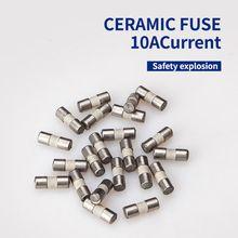 цена на 1 Set Ceramic Fuse For Multimeter Instrument 600mA 10A Ceramic British Plug Fuse