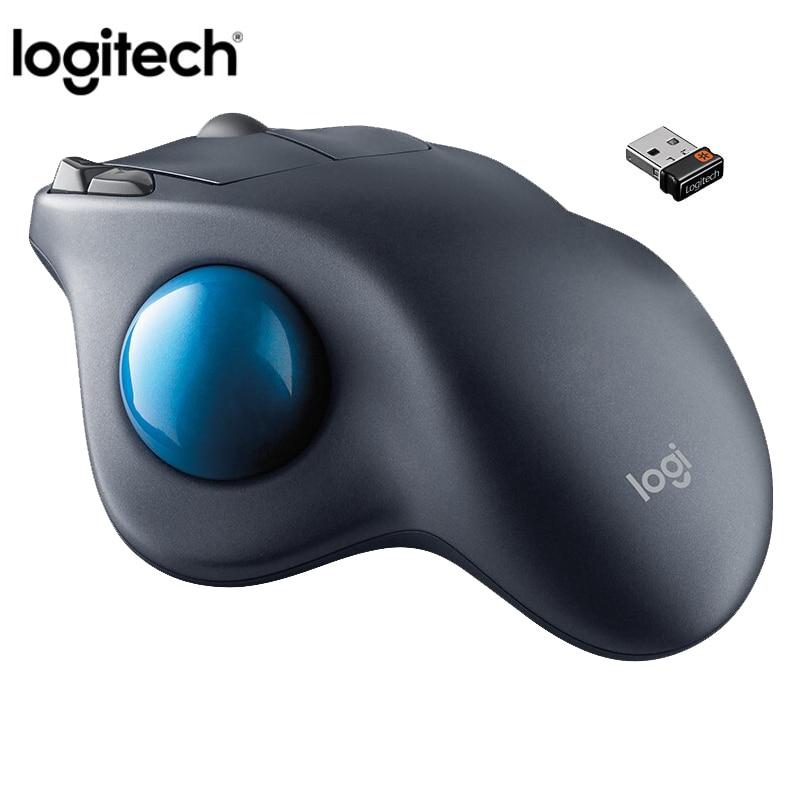 100 Original Logitech M570 2 4Ghz Wireless Trackball Mouse Ergonomic Vertical Professional Drawing Laser Mice For