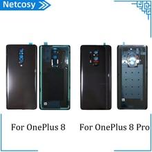 Cho Oneplus Pin Vỏ Bao Da Cho Oneplus 8 8Pro Nhà Ở Cửa Sau Bao Da Cho Oneplus 1 + 8 8Pro Lưng bao Da Một Phần