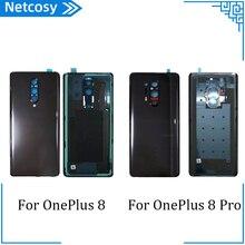 Крышка батарейного отсека для OnePlus 8 8Pro, задняя крышка корпуса для OnePlus 1 + 8 8Pro, задняя крышка, часть