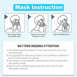 Image 5 - Одноразовые маски для лица, 30/50/100 шт., быстрая доставка, белые нетканые одноразовые маски от пыли