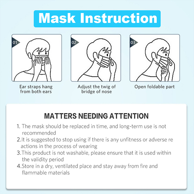 30/50/100pcs Disposable Face Mask In Stock Fast shipping white Non Woven Disposable Anti-Dust Masks Face Mouth Masks 5