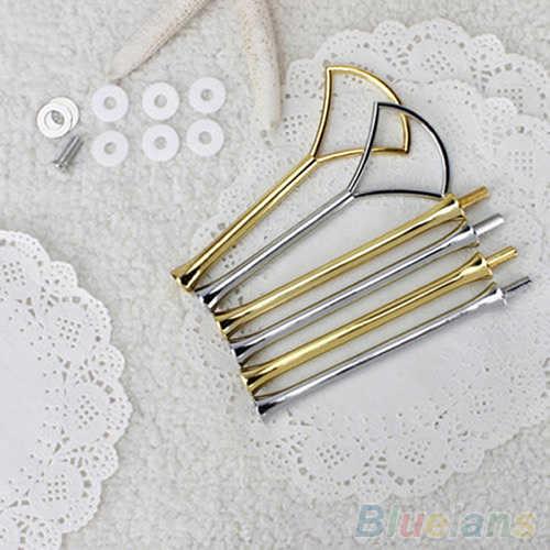 Juego de 2 o 3 niveles de soporte práctico de varios estilos, herramienta de soporte de barra, soporte de platos para pasteles, soporte de bandeja de pastel