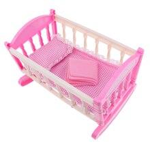 Prinzessin Baby Puppe Krippe Bett-für 9-11inch Reborn Puppe für Mellchan Puppe-Kinder