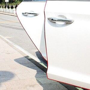 Image 3 - VERKAUF 10M Auto Tür Rand Guards Streifen U Form Carbon Fiber Dichtung Seite Türen Formteile Scratch Protector Auto zubehör Dropshipping
