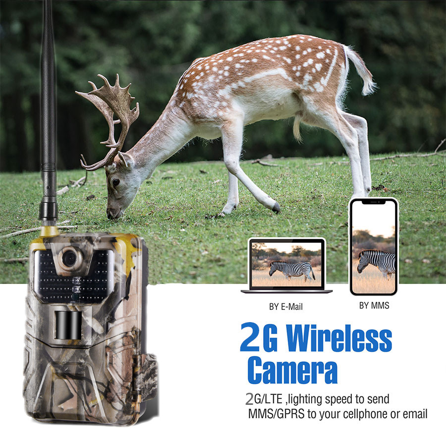 20MP 1080P Wildlife SMS MMS SMTP Trail Camera Photo Traps Night Vision 2G Email Cellular Hunting Cameras HC900M Surveillance