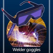 Solar Panel Schweißer Brille Volle Automatische Dimmen Gas Argon Arc Schweißen Schutzbrille Faltbare Bildschirm Augen Schutz