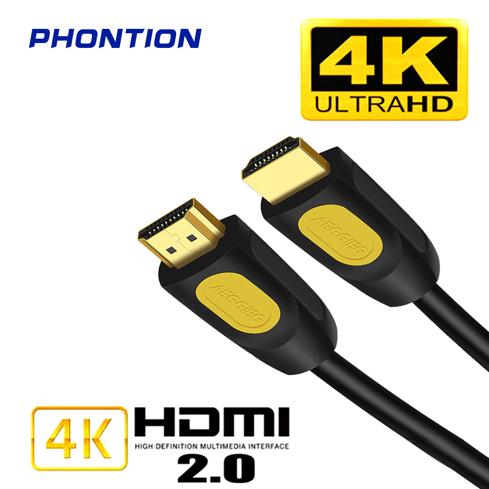 1M 0,5 M 1,5 M <font><b>HDMI</b></font> Zu <font><b>HDMI</b></font> Kabel 2,0 Version 4K 60Hz Kabel für PS4 <font><b>TV</b></font> <font><b>Hdmi</b></font> Splitter Extender Adapter AudioVideo Kabel image