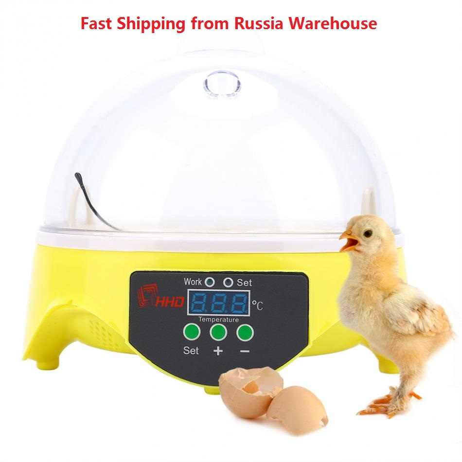 7 Egg Automatic Incubator Chicken Egg Incubator Home Digital Duck Quail Pigeon Birds Big Capacity Hatcher Display Thermostat