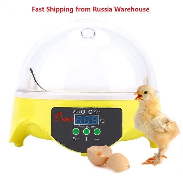7 Trứng Tự Động Trứng Máy Ấp Trứng Gà Ủ Nhà Kỹ Thuật Số Vịt Chim Cút Chim Công Suất Lớn Hatcher Hiển Thị Bình Giữ Nhiệt