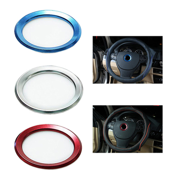 3 Styles Car Steering Wheel Center Ring Trim Case Aluminium Alloy Auto Decoration Accessories For BMW E39 E36 E60 E90 E34 E46 image