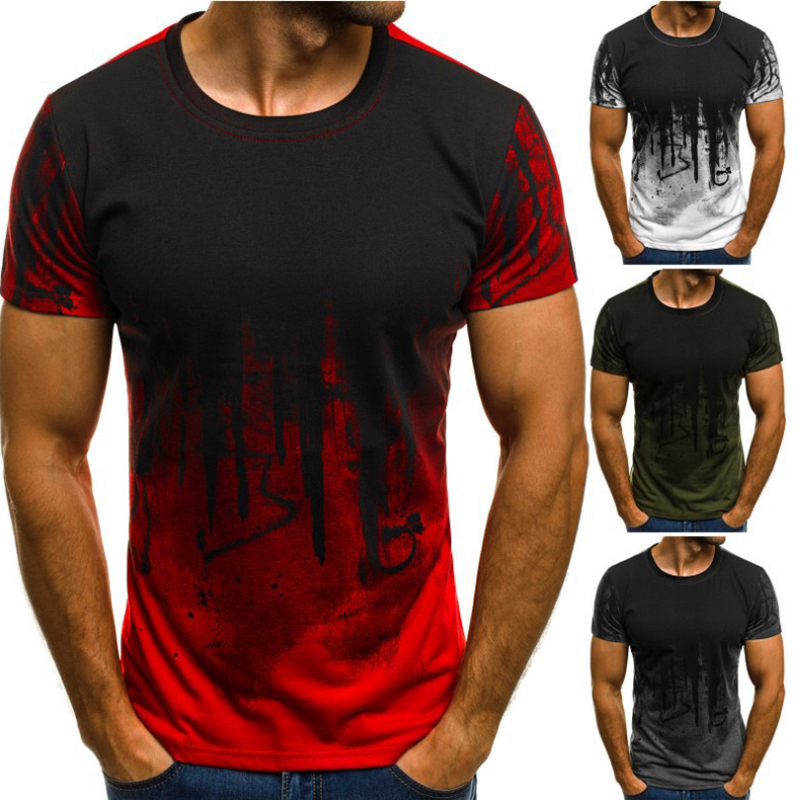 3D Fashion Jersey Men's T-shirt Short Sleeve Summer Round Neck Pattern Printing Hip-hop T-shirt Men's Casual Street Clothing Top