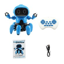 Smart Induction 6CH Electric 6-Legged RC Robot Intelligent Programming Gesture Sensor Obstacle Avoidance Remote Control Toys smart car infrared obstacle avoidance sensor black blue