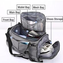 Erkek bagaj seyahat omuz çantaları Anti hırsızlık erkek çantası taşınabilir spor çanta erkekler için büyük kapasiteli omuz çantası sırt çantası