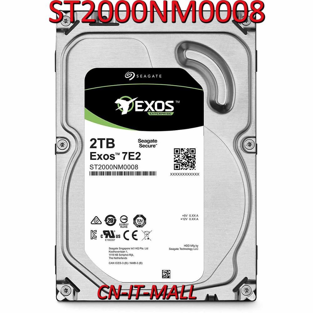 Seagate Exos ST2000NM0008 2TB 7200 RPM 512n SATA 6Gb/s 128MB Cache Internal Hard Drive