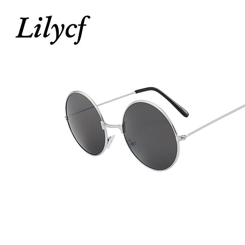 New Retro Sunglasses Round Men Women Colored Reflective Glasses Fashion Metal Round Anti-glare Comfortable Sunglasses