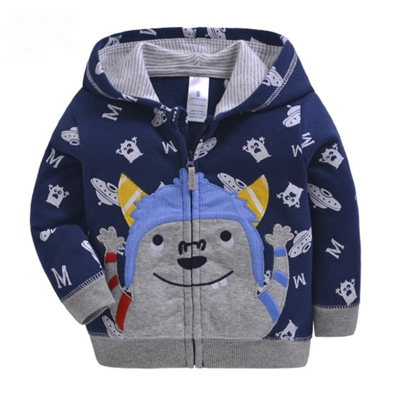 2019 baby boys girls hooded sweatshirts cotton cartoon tops truck flower whale out wear kids clothes for 9m-3years 4