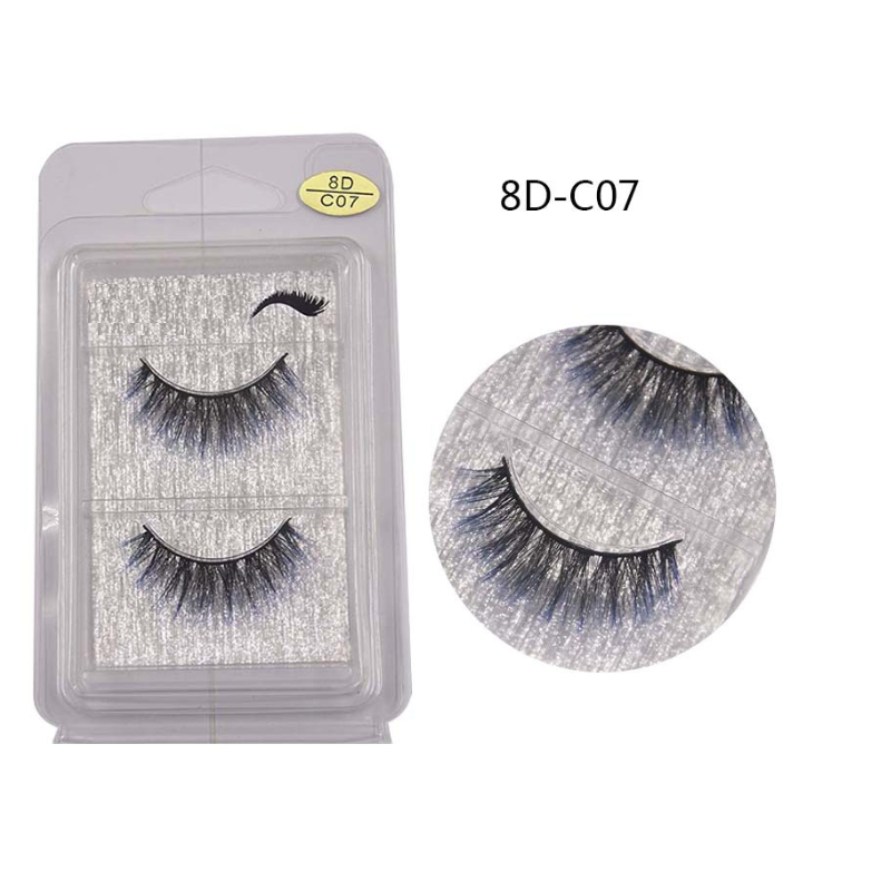 NEW 2020 1 Pairs Color Dolls With False Eyelashes Short False Eyelashes Simulation Natural Curling Short Dolls Eyelashes