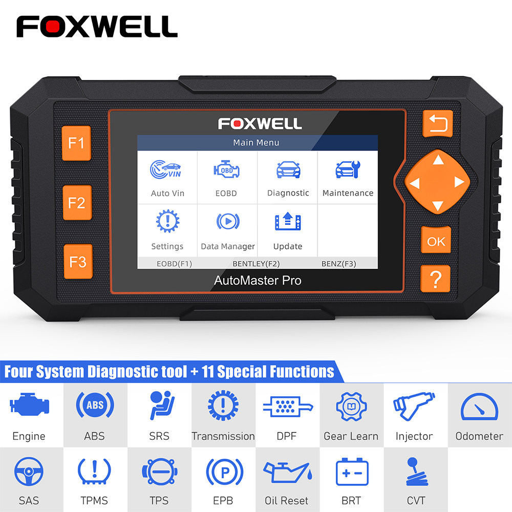 Foxwell NT634 OBD2 Scanner Vier Systeme SAS TPS DPF Öl Reset Gearing Lernen Auto Diagnose ODB2 OBD 2 Code Reader freies Update