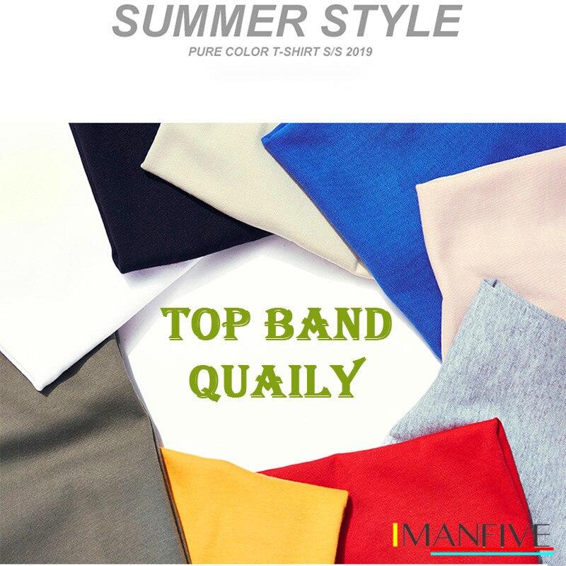 IMANFIVE QI0428A 100 cotton short sleeve pilot panda men T shirt casual coo summer men Tshirt male loose t shirt tees LMYX in T Shirts from Men 39 s Clothing