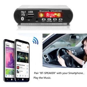 Image 5 - Recording Bluetooth5.0 Receiver 12V Car Kit MP3 Player Decoder Board Color Screen FM Radio TF USB 3.5 Mm AUX Audio For Iphone