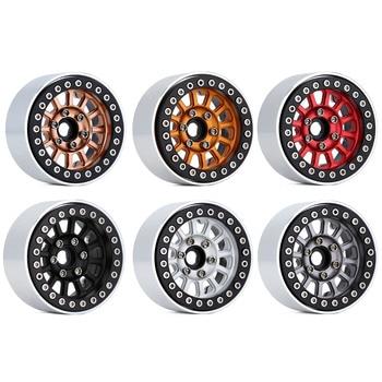 "INJORA CNC Aluminum 1.9"" Beadlock Wheel Rim for 1/10 RC Crawler Car Traxxas TRX-4 Axial SCX10 90046 AXI03007 Upgrade Parts 2"