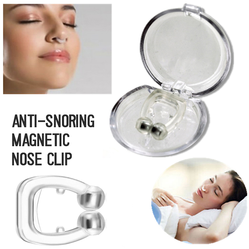 4/2/1pc Silicone Magnetic A Simple Fix For Snoring And Sleep Apnea Anti Snoring Nose Breathing Snore Stopper Device Toiletry Kit