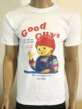 GOOD GUYS T SHIRT CHUCKY CHILDS PLAY HORROR CULT 80S MOVIE FILM BIRTHDAY Summer  Men Clothing