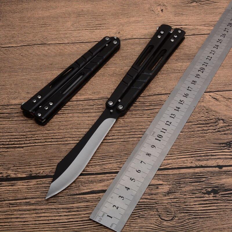 Нож для тренера с бабочкой, 440 лезвий, тренировочные ножи, стальной нож с ручкой, карманный нож, походные охотничьи ножи, CS GO, тусклый инструмент|Ножи|   | АлиЭкспресс