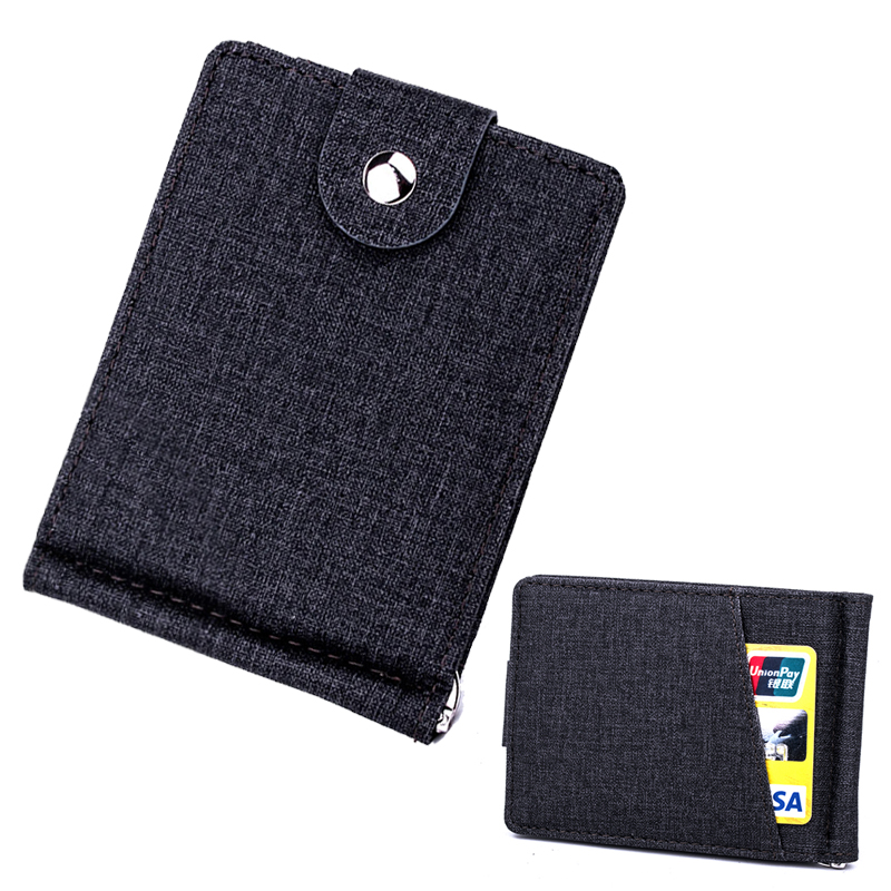 Hasp Wallet Cases Purse Clip Cash-Holder Clutch Linen Slim Women Housekeeper 341