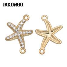 10 шт золотых кристаллов разъемы морской звезды для изготовления