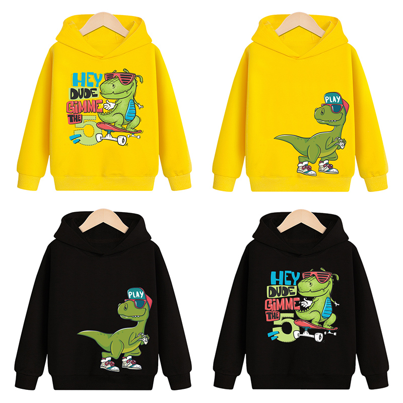 Sweatshirts Hoodies Long-Sleeve Baby Baby-Boys-Girls Kids Children Cartoon Autumn New Spring Tops Clothes Clothing Dinosaur 1