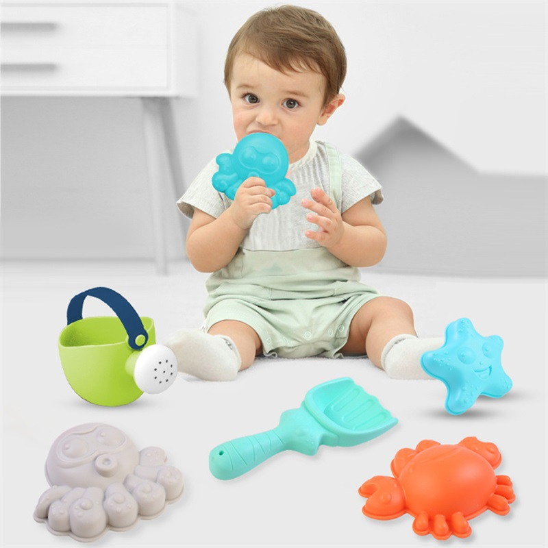 Beach Toys For Kids Safe Material Baby Beach Game Toy Children Sandbox Set Kit Summer Toys For Beach Play Sand Water Play Cart