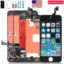 LCD Screen für iPhone 6 6S 7 8 6S Plus mit 3D Touchscreen Digitizer Montage Ersatz für iPhone 5S Display mit Geschenk