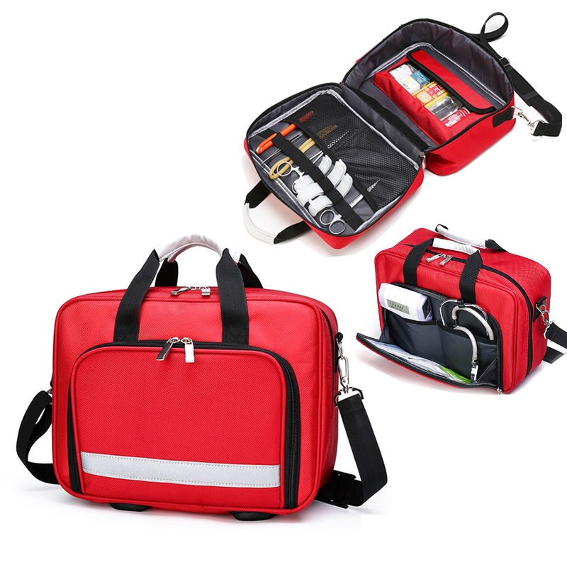 Аптечка первой помощи для кемпинга, медицинские принадлежности, Водонепроницаемый многофункциональный дорожный набор, сумка для выживани...