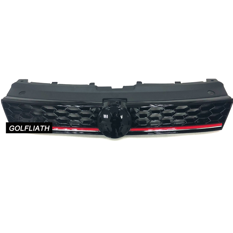 meshed STYLE ABS Front Bumper Honeycomb Grill upper Grille For Volkswagen Polo 2011-2017