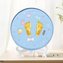 baby footprint Clay Imprint Kit Casting Baby Hand Print Air Drying Soft Parent-child Hand Ink Pad Fingerprint Memory