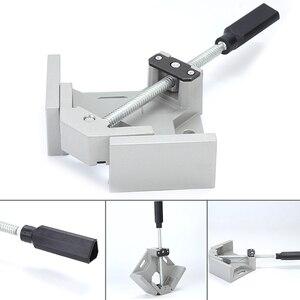 Image 3 - Lassen Aluminiumlegering Vice Twee Axis Frame Enkele Handvat Map Clip 90 Graden Handgereedschap Haakse Clamp Houtbewerking Hoek