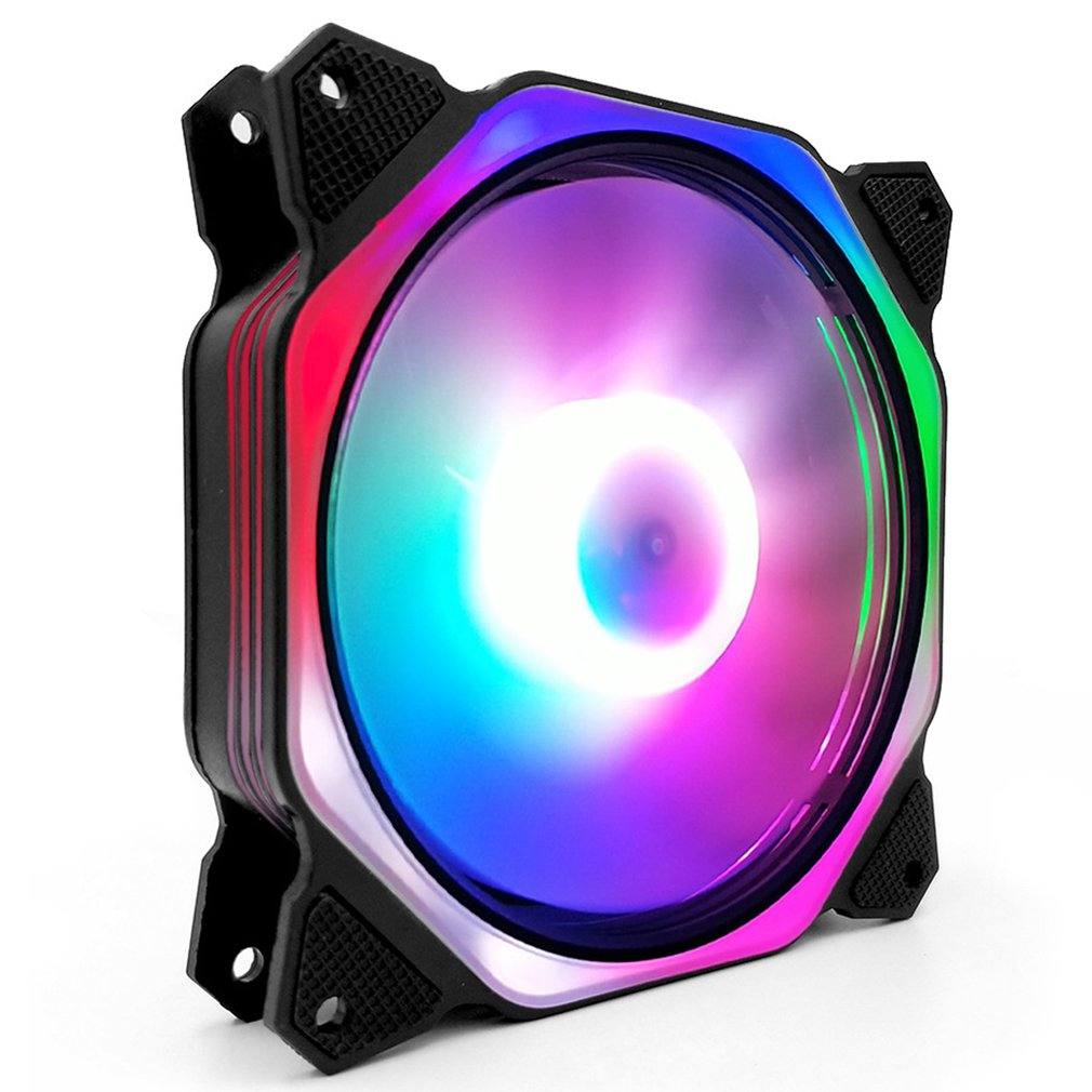 Computer PC Case Fan RGB LED Fan Speed ​​120mm Silent Computer Cooler Cooling RGB Case Fan 12cm