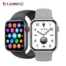 LEMFO 2021 Смарт-часы для мужчин звонки по Bluetooth 1,75 дюймов полный Экран ЭКГ сердечного ритма Smartwatch для женщин 44 мм для IOS и Android PK W26 W46