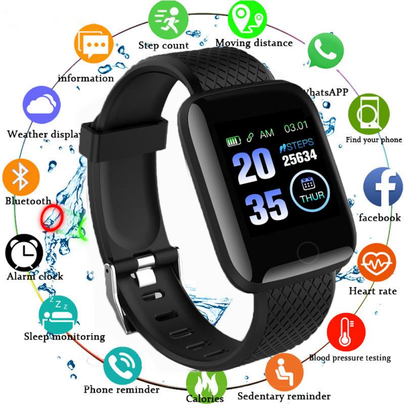 116 Plus Smart Watch Wristband Sports Fitness Blood Pressure Heart Rate Call Message Reminder Pedometer D13 Smart Watch 8