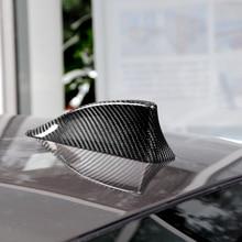Décoration de voiture de couverture dantenne daileron de requin de Fiber de carbone pour BMW E36 E46 série 5 F10 F11 F18 M5 7 série F01 F02 09 14 style automatique
