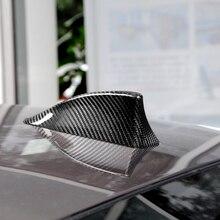 De fibra de carbono alerón con forma de aleta de tiburón cubierta decoración del coche para BMW E36 E46 serie 5 F10 F11 F18 M5 serie 7 F01 F02 09 14 de estilo