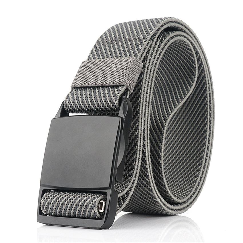 Men Belt Alloy Magnetic Buckle Quick Release Casual Elastic Stretch Jeans Belt Training Adjustable Tactical Belts High Quality