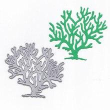Old Tree Shrub Metal Cutting Dies Scrapbooking Steel Craft Die Cuts Paper Art Emboss Card Making Stencil