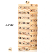 54PCS Wooden mini Blocks Building Jenga Pulling Children Educational Toys children toys