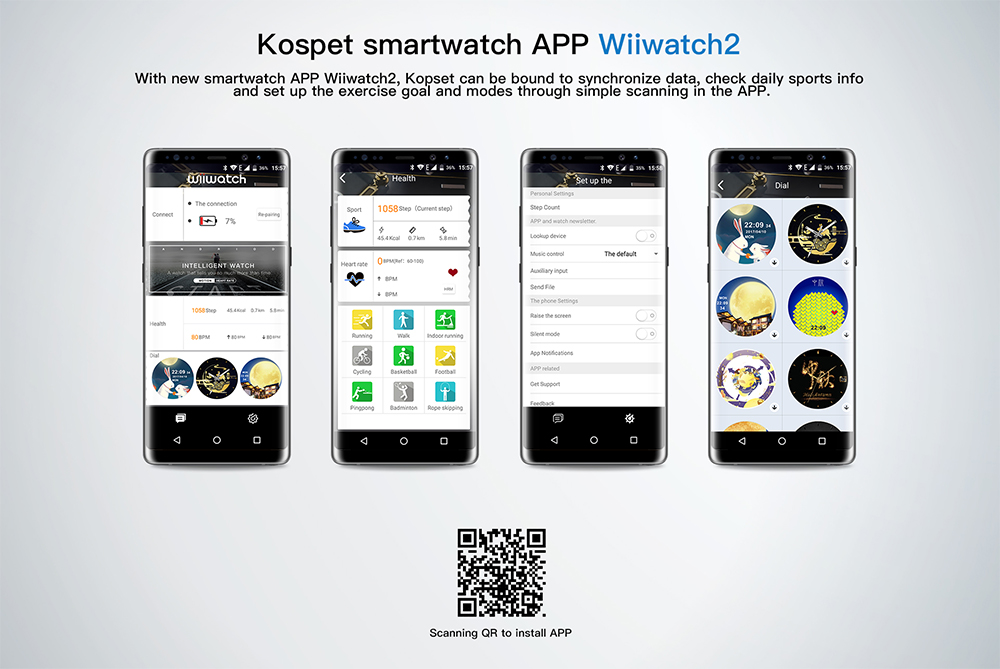 Waterproof kospet Hope 3GB Smart Watch with 8MP Camera including Google play store and GPS Map waterproof for men available for Android ios 22
