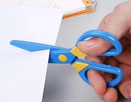 Children's Scissors Safety Handmade Scissors Kindergarten Manual Cut Round Head Paper-cutting Scissors Mini Baby Small Scissors