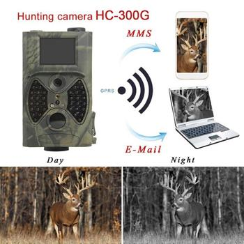 HC-300A Hunting Trail Camera Outdoor  Video Camera  2 TF GPRS MMS 12MP 1080P IR Night Vision Digital Trail 5MP Color CMOS IP54 5mp cmos gps professional car black box w 8x digital zoom hdmi av out tf 2 36 tft lcd