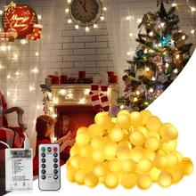 2 in 1 USB 100 LED Fairy Light Battery New Year's Garland Remote Control 10m String Light
